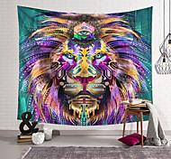abordables -Tapisserie murale art décor couverture rideau suspendu maison chambre salon décoration polyester tête de lion