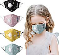 economico -Maschera per bambini da 10 pezzi con valvola pm2.5 valvola di respirazione con filtro a carboni attivi anti-polvere e anti-smog maschera in puro cotone
