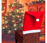 abordables -noël chaise couvre santa claus chapeau noël dîner chaise arrière couvre table fête décor nouvel an fête fournitures