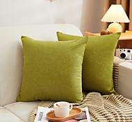 abordables -coton lin classique couleur unie chaud confortable taie d'oreiller couverture salon chambre canapé housse de coussin