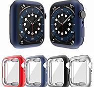 economico -custodia compatibile con apple watch serie se 6 5 4 pellicola protettiva per schermo da 44 mm, 4 confezioni tutt'intorno cornice flessibile per paraurti tpu opaco (rosso + blu navy + nero + argento,