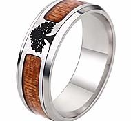 abordables -bague de mariage arbre de vie en acier inoxydable (10)