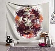 abordables -Tapisserie murale art décor couverture rideau suspendu maison chambre salon décoration polyester fibre nouveauté nature morte crâne crâne fleurs colorées