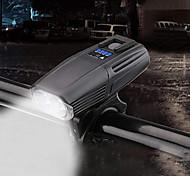 abordables -vélo lumière, usb rechargeable xml t6 led vélo vélo lumière avant vélo lampe frontale (noir)