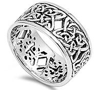 abordables -Bague de mode éternité noeud celtique pour femme .925 bracelet en argent sterling taille 12
