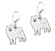 economico -portachiavi, 2 pezzi simpatici cani da compagnia forma mini portachiavi in metallo portachiavi portachiavi portachiavi portachiavi portatile per uomo donna ragazze ragazzi (samoiedo)