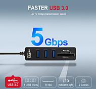 economico -LITBest USB 3.0 a USB 3.0 scheda SD Scheda TF Hub USB 5 Porti Per Windows, PC, laptop