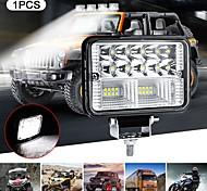 abordables -1 pcs 78 W 26LED 4 pouces Bar Carré Inondation LED Phares Offroad pour Voitures Camion Offroad ATV Voiture Lampe Accessoires Super Lumineux Lumière Blanche