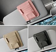economico -deranfu car parasole organizer pu leather multifunzionale portaoggetti occhiali clip multi funzione storage bag cartella card cd pouch holder 3 colori a scelta