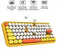 economico -tastiera bluetooth senza fili ajazz-308i 84 tasti rotondi classici auto sleep risparmio energetico compatibile con windows / ios / android