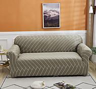abordables -ligne verte housse de canapé 1 pièce housse de canapé protecteur de meubles housse extensible douce tissu jacquard spandex super fit pour canapé 1 ~ 4 coussin et canapé en forme de l, facile à