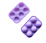 abordables -6 trous petit moule à pudding en silicone semi-sphère moule à gâteau en silicone moule à savon fait main moule à chocolat en silicone