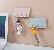 economico -Ganci Auto-adesivo / Multiuso / Riutilizzabili Contemporaneo moderno Plastica 4 pezzi organizzazione del bagno