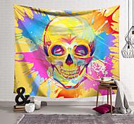 abordables -tapisserie murale art décor couverture rideau suspendu maison chambre salon décoration polyester fibre nouveauté nature morte couleur graffiti crâne