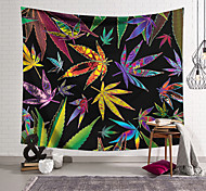 abordables -tapisserie murale art décor couverture rideau suspendu maison chambre salon décoration moderne fantaisie couleur feuille d'érable rendu lanting conception