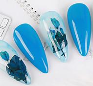 abordables -1 set vraie fleur fleur séchée matériel naturel fleurs séchées décoration des ongles manucure arts bleu enchantress époxy vraie fleur séchée bricolage nail art