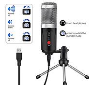 economico -computer microfono a condensatore pc porta usb dispositivo da studio scheda audio karaoke dj registrazione live