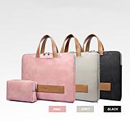 abordables -13.3 14 15.6 pochette d'ordinateur portable étanche en cuir PU pour femmes sac d'ordinateur portable sac à main antichoc souple comprend un sac d'alimentation