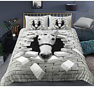 abordables -Ensemble de housse de couette 3 pièces à imprimé cheval 3D Ensembles de literie pour hôtel Housse de couette avec microfibre douce et légère, comprenant 1 housse de couette, 2 taies d'oreiller pour