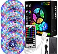 economico -4 * 5m luci di striscia principale impermeabile rgb ha condotto la luce 1080 leds 2835 smd cambia colore ha condotto la luce di striscia e 44 chiavi ir controller adattatore 12v kit luci led per