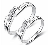 economico -Anelli per coppie geometrico Argento Rame Prezioso Di tendenza 2 pezzi Regolabile / Da coppia / Anello / Anello della promessa / Anello regolabile