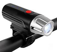 economico -USB ricaricabile faro per bici: luce anteriore per bicicletta a led super luminosa con indicatore della batteria, lunga durata, ipx5 resistente all'acqua per torcia di sicurezza in bicicletta (nera)