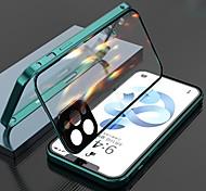 economico -telefono Custodia Per Apple Integrale Custodia ad adsorbimento magnetico iPhone 12 Pro Max 11 SE 2020 X XR XS Max 8 7 Doppia setola Trasparente Protezione per obiettivo della fotocamera Tinta unita
