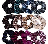 abordables -1 pc cheveux chouchous velours élastiques bandes de cheveux chouchous élastiques à cheveux cordes chouchou pour femmes ou filles accessoires pour cheveux 1 pièce couleurs assorties