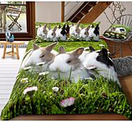 abordables -ensemble de housse de couette 3 pièces lapin de pâques ensembles de literie d'hôtel housse de couette avec microfibre douce et légère, comprend 1 housse de couette, 2 taies d'oreiller pour double /