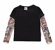 economico -Bambino Da ragazzo maglietta T-shirt Manica lunga Pop art 3D Con stampe Nero Cotone Bambini Top Attivo Essenziale