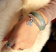 abordables -Bracelet de perles Bracelet d'amitié Bracelet Femme Homme Perles Mode Anniversaire Amour Elégant unique Ethnique Rétro Vintage Punk Bracelet Bijoux Argent Rond pour Soirée sport Cadeau Rendez-vous