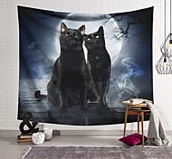 abordables -Tapisserie murale art décor couverture rideau suspendu maison chambre salon décoration polyester chat pierre brique