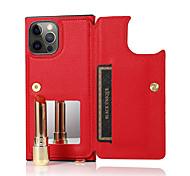 economico -telefono Custodia Per Apple Per retro Custodia in pelle iPhone 12 Pro Max 11 SE 2020 X XR XS Max 8 7 6 Porta-carte di credito Resistente agli urti Tinta unica pelle sintetica