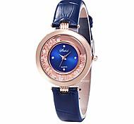 economico -orologi da donna, orologio da polso al quarzo in finta pelle con strass brillanti sabbie mobili