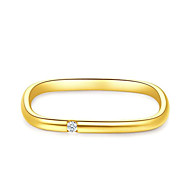 economico -Anello Zircone cubico geometrico Oro Rame Verticale Di tendenza 1 pc 6 7 8 / Per donna