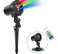 economico -Telecomando Proiettore di luce laser Proiettore impermeabile Proiettore LED rotante Multicolore Matrimonio Feste Regalo Luce del proiettore