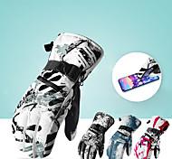economico -guanti da sci, guanti invernali da neve guanti caldi touchscreen guanti da moto outdoor impermeabili (medi)