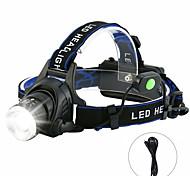 abordables -T6 headlamp Lampes Frontales Imperméable 3000 lm LED LED 1 Émetteurs 4.0 Mode d'Eclairage Imperméable Rotatif Portable Terrifiant Camping / Randonnée / Spéléologie Usage quotidien Cyclisme Extérieur
