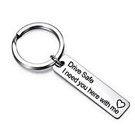 abordables -conduire en toute sécurité porte-clés Saint Valentin cadeau fête des pères cadeau d'anniversaire j'ai besoin de toi ici avec moi pour mari papa petit ami