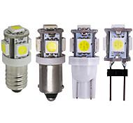 abordables -t10 e10 g4 ba9s bax9s w5w ampoule led 5050 5 smd led blanc chaud blanc 194168 super lumineux cale lumières ampoules lampes dc12v 5050 smd 2pcs