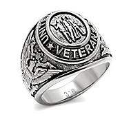 economico -anello veterano militare statunitense - (colore argento) gioielli veterani di guerra anelli militari per esercito, marina, marines, aeronautica militare, guardia costiera - equipaggiamento militare
