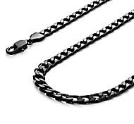 economico -collana da uomo potente urban-jewelry catena in acciaio inossidabile 316l nero 46, 54, 59, 66 cm, (6 mm)