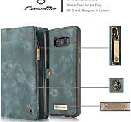 economico -telefono Custodia Per Samsung Galaxy Integrale Custodia in pelle Porta carte di credito S8 A portafoglio Porta-carte di credito Con supporto Tinta unita Resistente pelle sintetica