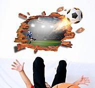 abordables -Football stickers muraux chambre / bureau, pré-collé pvc décoration de la maison sticker mural 1 pc 60 * 90 cm
