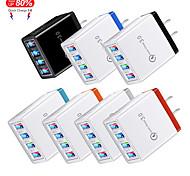 economico -Outlet di fabbrica 220 W Potenza di uscita USB Caricatore del telefono Caricabatterie portatile Caricabatteria di Muro Multiuscita QC 3.0 CE / UE CEE Per Xiaomi MI HUAWEI Apple iPhone 12 11 pro SE X