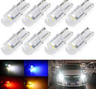 abordables -Automatique LED Lumière de Plaque d'Immatriculation / Feux de position latéraux Ampoules électriques COB 1 W 1 Pour Universel Toutes les Années 10 pièces