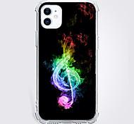 abordables -Musique Mode Cas Pour Pomme iPhone 12 iPhone 11 iPhone 12 Pro Max Modèle unique Étui de protection Antichoc Coque TPU