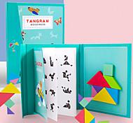 abordables -Tangram Blocs de Construction Puzzle Magnétique Enfant Unisexe Garçon Fille Jouet Cadeau / Puzzles en bois