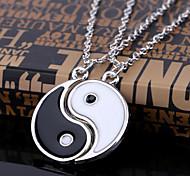 economico -braccialetto di coppia o amico yin yang con di collana,  abbinati braccialetto di cordino regolabile yin yang, collana con ciondolo coppia yin yang catena per amicizia fidanzato