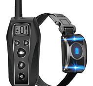 abordables -Collier de dressage pour chien à distance avec LED 3 modes bip vibration choc ipx7 étanche rechargeable rechargeable formation au comportement des animaux de compagnie